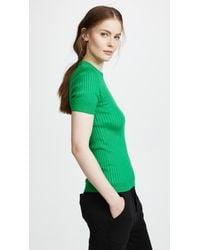 Courreges Green Short Sleeve Top