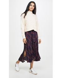 Free People White Merry Go Round Sweater