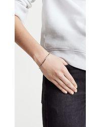 Shashi - White Nugget Clasp Bracelet - Lyst