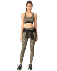 Onzie - Green Moss Camo High Rise Leggings - Lyst