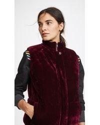 BB Dakota Red Withers Velvet Puffer Vest