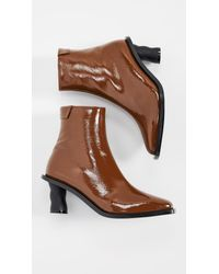 Reike Nen Brown Wave Heel Ankle Boots