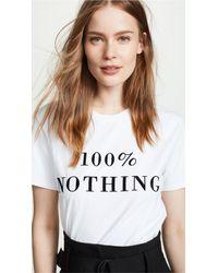 Ksenia Schnaider - White 100% Nothing Tee - Lyst