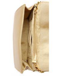 Whiting & Davis - Metallic Quilted Tassel Bag - Gold - Lyst