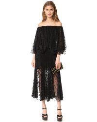 Maria Lucia Hohan Black Off The Shoulder Dress