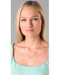 Jennifer Zeuner - Metallic Mini Wishbone Necklace - Lyst