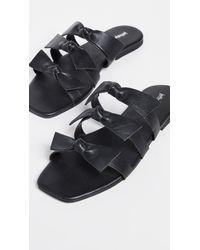 Jeffrey Campbell Black Atone Bow Sandals