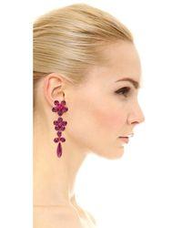 Kate Spade - Multicolor In Full Bloom Linear Earrings - Lyst