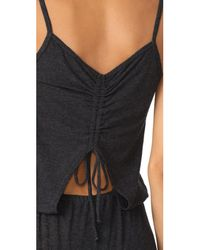 Lanston - Black Drawstring Back Jumpsuit - Lyst