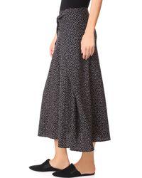 Vince - Black Tie Front Skirt - Lyst