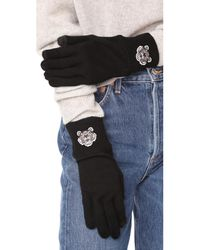 KENZO - Black Tiger Crest Texting Gloves - Lyst