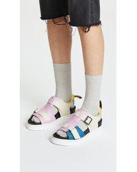 Dr. Martens Blue Kamilah Adjustable 2 Strap Sandals