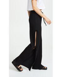 Lanston Black Side Tie Track Pants