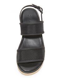 DKNY Black Shana Slingback Espadrille Sandals