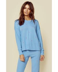 Sundry Blue Pullover With Mini Hearts | Sale