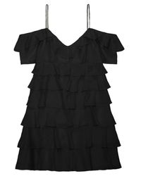 Rachel Zoe | Black Persei Silk Mini Dress | Lyst