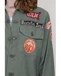 MadeWorn - Green The Grateful Dead Jacket Army Jacket - Lyst