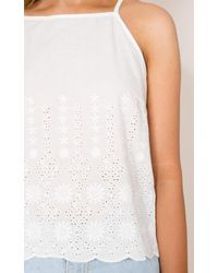 Showpo - When It Ends Top In White - Lyst