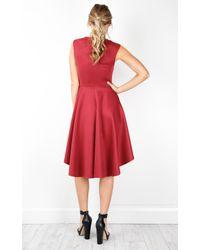 Showpo - Red Hysteria Dress In Wine - Lyst