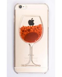 Showpo - Orange Hand Me The Bottle Iphone Cover In Red And Clear - 6 - Lyst