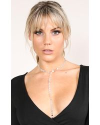 Showpo - Multicolor Lariat Necklace In Silver - Lyst