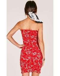 Showpo Hurts Like Heaven Dress In Red Floral