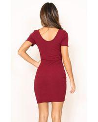 Showpo - Red Cool Waters Dress In Wine - Lyst