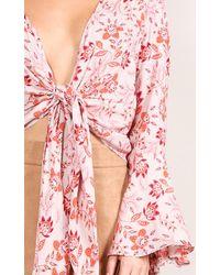 Showpo - Gypsy Lover Top In Pink Print - Lyst
