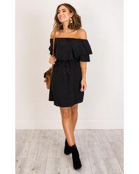 Showpo - Clear Skies Dress In Black Print - Lyst