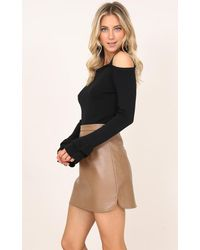 Showpo - Sign Of The Times Top In Black - Lyst