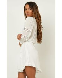 Showpo White In The Past Dress