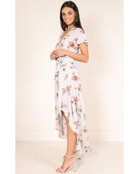 Showpo | Purple Heaven And Earth Dress In Lilac Floral | Lyst