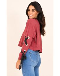 Showpo - Purple Its You And Me Sweater In Plum - Lyst