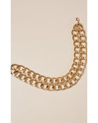 Showpo - Brown Red Moon Necklace In Gold - Lyst