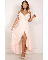 Showpo | Pink Something Like Love Maxi Dress In Blush | Lyst