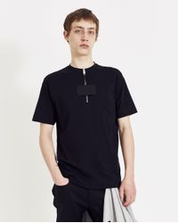 1017 ALYX 9SM Black Quarter Zip Collection T-shirt for men