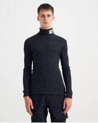 Raf Simons Gray Patched Sous Pull Cotton