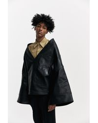 Xander Zhou - Black Oversized Kimono Cape for Men - Lyst