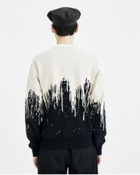 Christian Dada Multicolor Bleached Jacquard Sweater for men