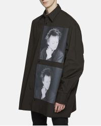 Raf Simons Black Oversized Laurie Ande Shirt for men
