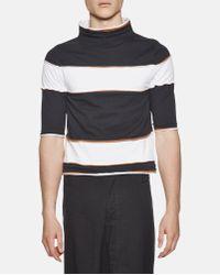 Telfar Multicolor Striped Mock Neck T-shirt for men