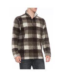 True Grit Brown Melange Buffalo Plaid Pullover Sweater for men