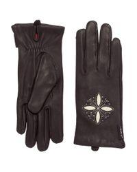 Hestra Black Deerskin Edelweiss Gloves