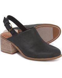 TOMS Leila Slingback (black Leather) Slip On Shoes