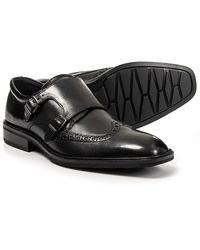 Ecco Black Illinois Monk Strap Slip On Loafer Slip-on for men