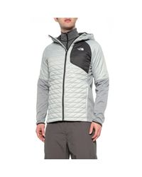 The North Face Gray Kilowatt Thermoball(r) Hooded Jacket for men