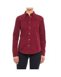 Stetson - Red Studded Twill Shirt - Lyst