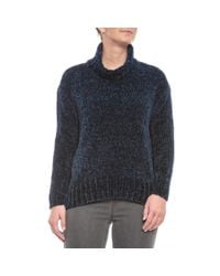 Cynthia Rowley Blue Chenille Turtleneck Sweater (for Women)