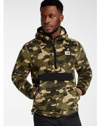 The North Face Green Campshire Camo Plush Hoodie for men