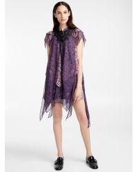 COACH Purple Mini Tiered Dress